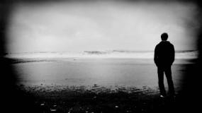 Обои Я одинок: Волны, Море, Парень, Настроения