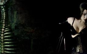 Обои Morgana: Скелет, Готичная девушка, Готика, Настроения