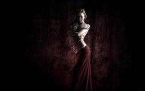 Обои Kardenida: Стена, Готичная девушка, Готика, Прорезы, Настроения