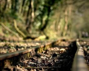 Обои Ржавая железная дорога: Железная дорога, Рельсы, Ржавчина, Настроения