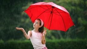 Обои Девочка с зонтом: Дождь, Девочка, Зонт, Настроения