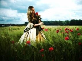 Обои Among flowers: Цветы, Girl, Flowers, Цветы