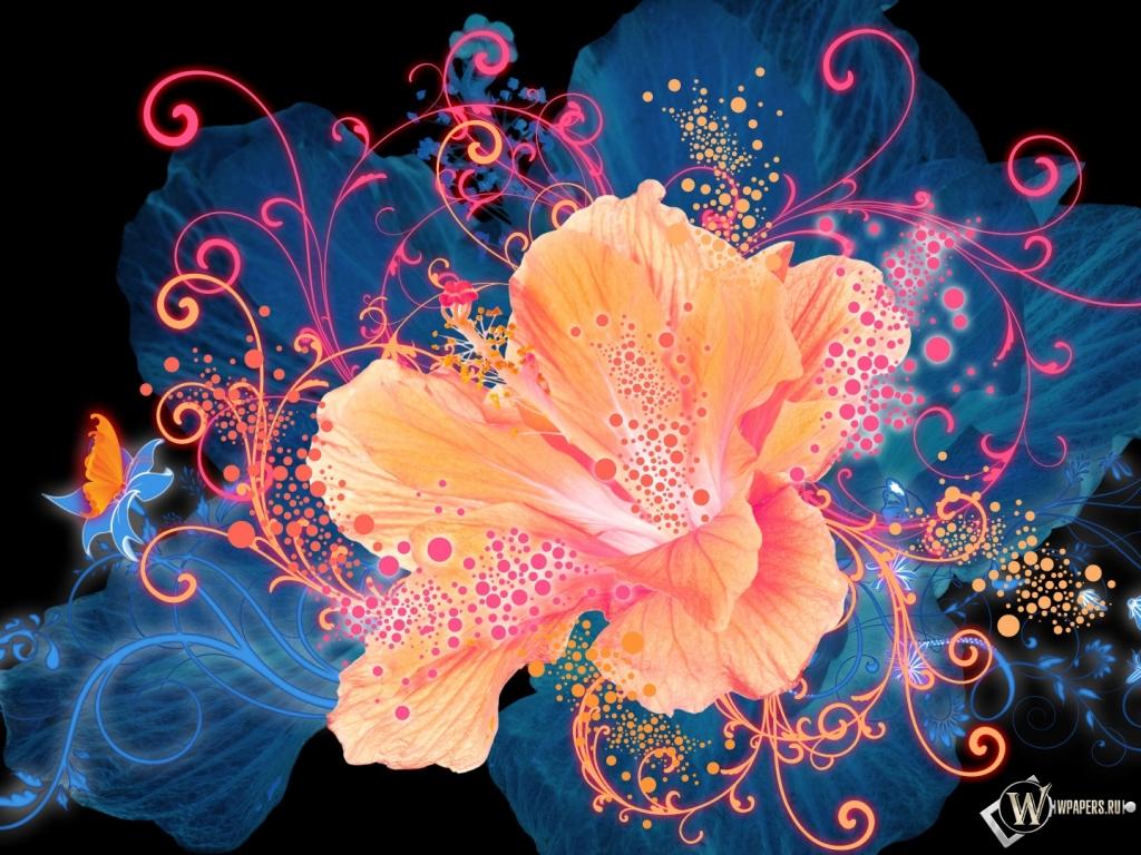 Графические картинки цветы 5