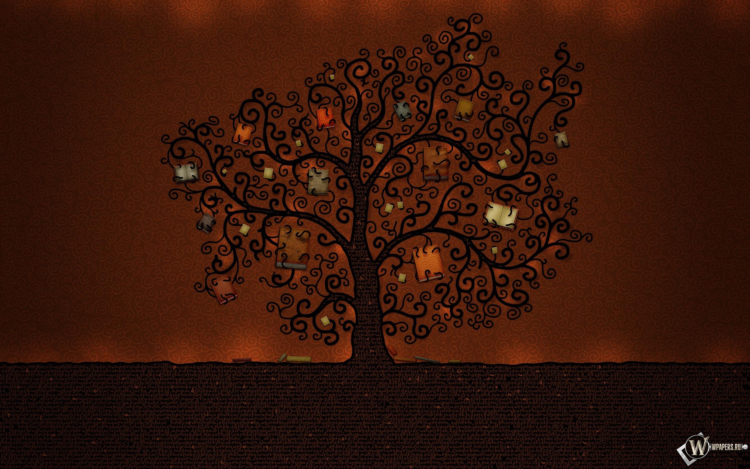 Книжное дерево 2560x1600