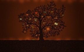 Обои Книжное дерево: Книги, Дерево, Буквы, Деревья