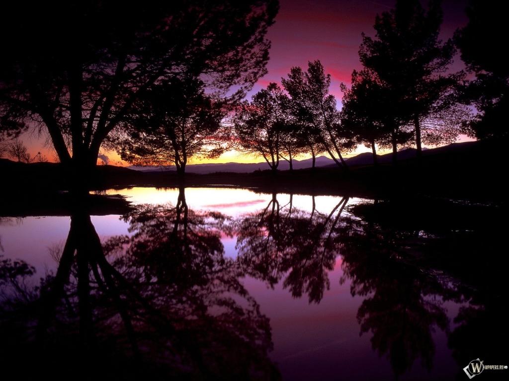 Ночной пейзаж 1024x768