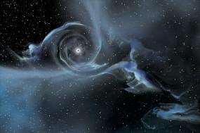 Обои Вращения чёрных дыр: Звёзды, Чёрные дыры, Космос