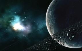 Обои Пояс астеройдов: Планета, Звёзды, Астероиды, Пояс, Космос
