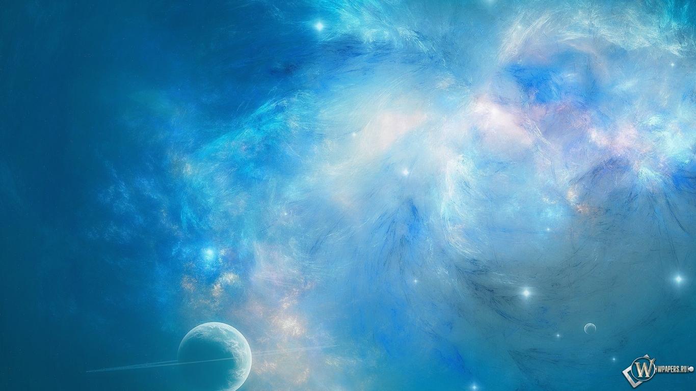 Обои синий космос космос планета