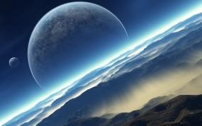 Обои Fantasia Luna: Планеты, Луна, Звёзды, Вселенная, Космос