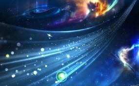 Обои Космический поток: Космос, Звёзды, Синий, Поток, Космос