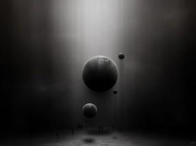 Обои Серые планеты: Космос, Планеты, Люди, Космос