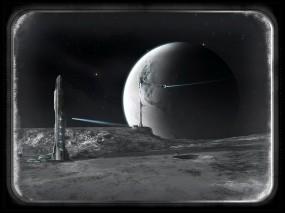 Обои Art Universe: Космос, Планета, Корабль, Иллюминатор, Космос