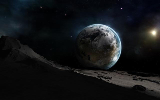 Земля вид с луны
