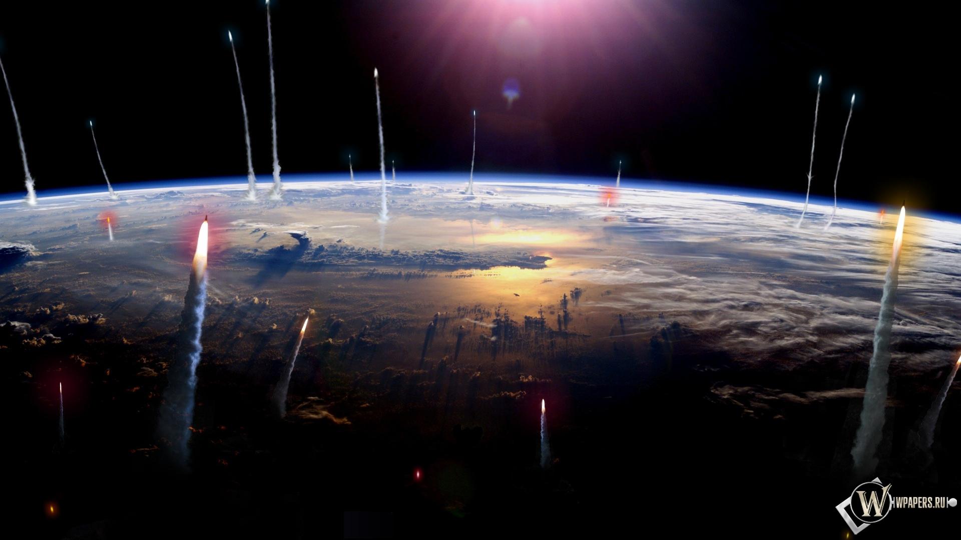 Обои вид земли из космоса на рабочий