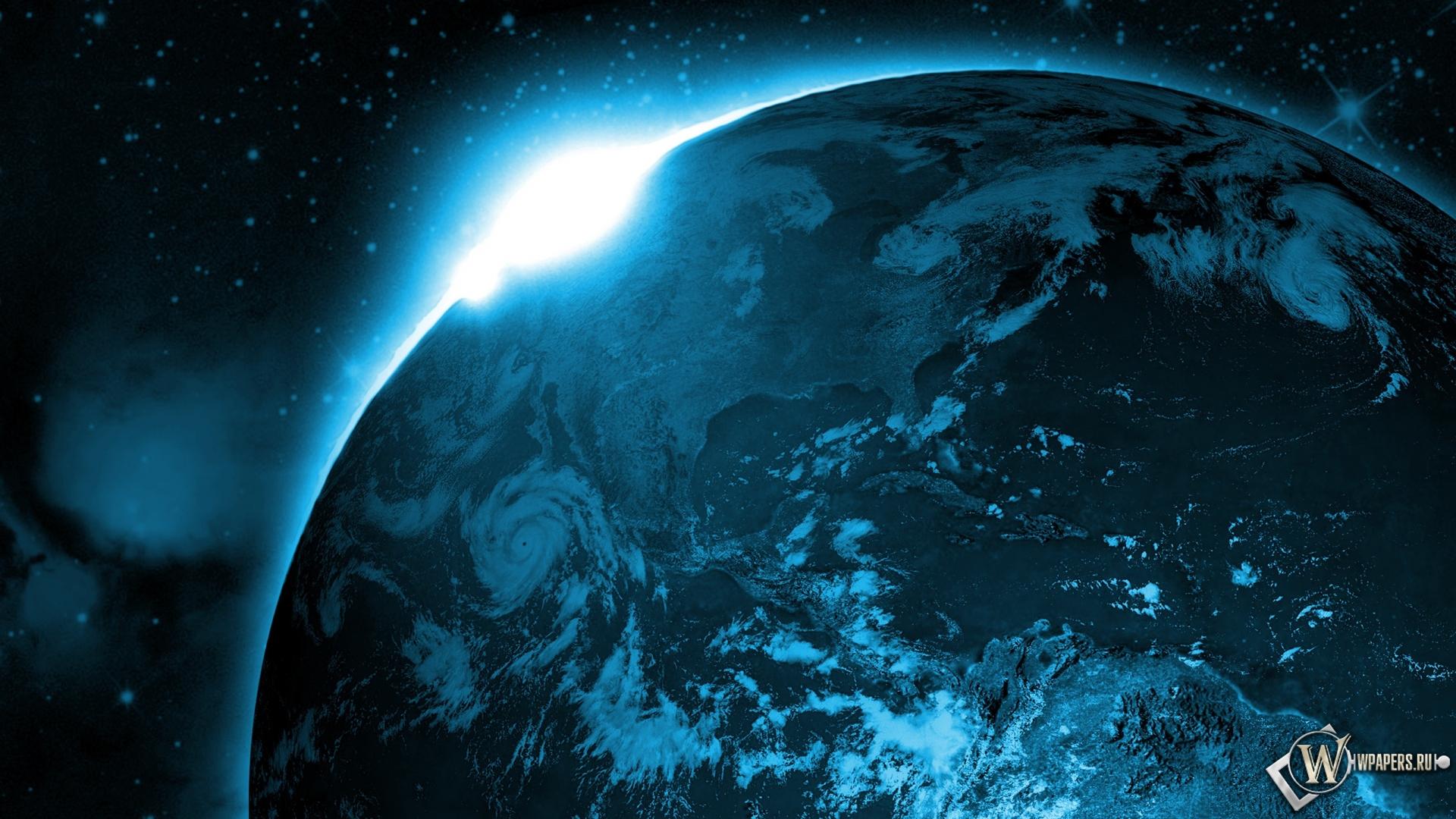 Вид земли из космоса солнце космос