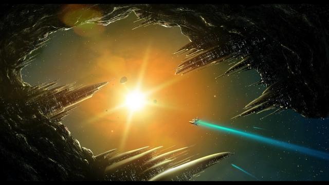 Корабль летит к солнцу