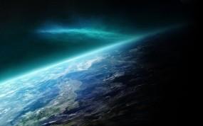 Обои Космическое сияние: Сияние, Космос, Планета, Космос