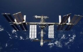 Обои Международная космическая станция: Космос, Орбита, Полёт, Станция, Космос
