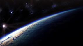 Обои Поверхность планеты: Сияние, Земля, Планета, Звёзды, Космос