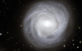 Обои Круглая галактика: Звёзды, Галактика, Белый, Космос