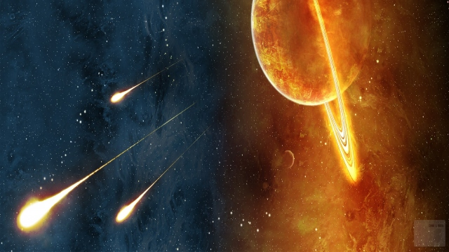 Сатурн и кометы