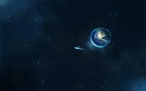 Обои Планета Земля: Космос, Земля, Планета, Звёзды, Космос