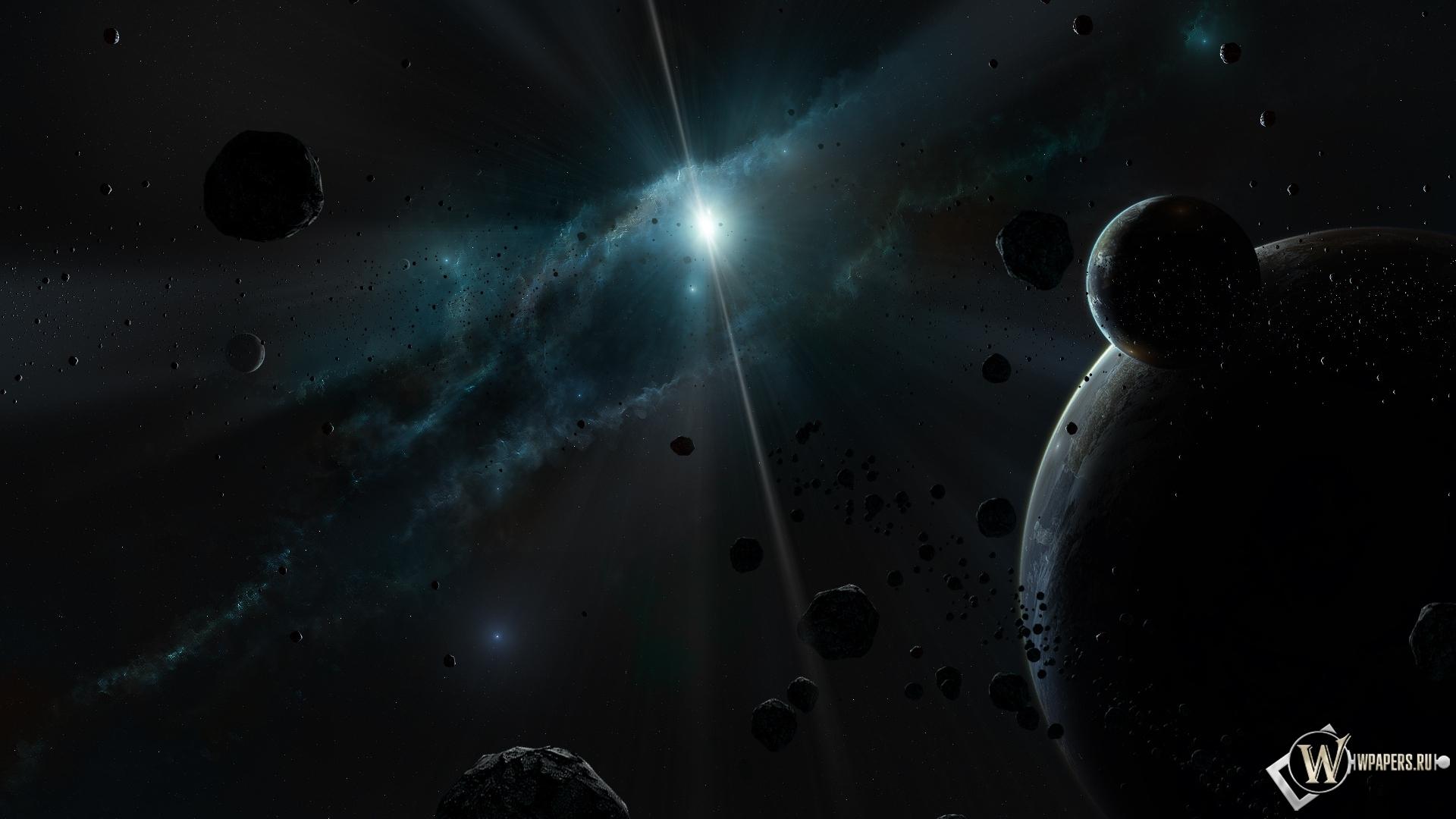 Обои тёмный космос свет космос