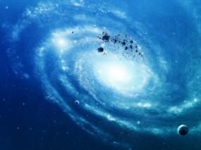 Обои Синяя галактика: Космос, Планеты, Звёзды, Галактика, Космос