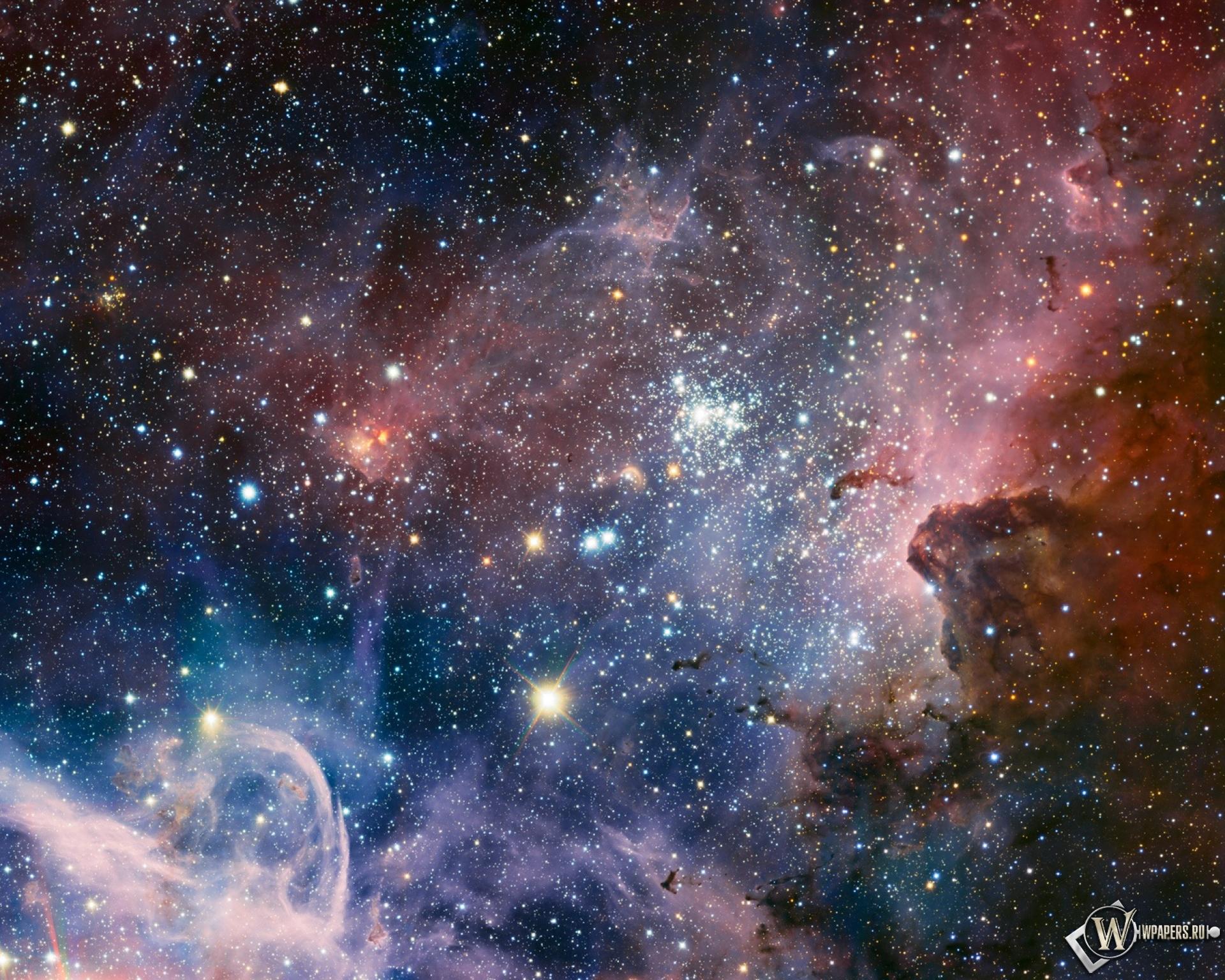 Обои туманность carina nebula на рабочий
