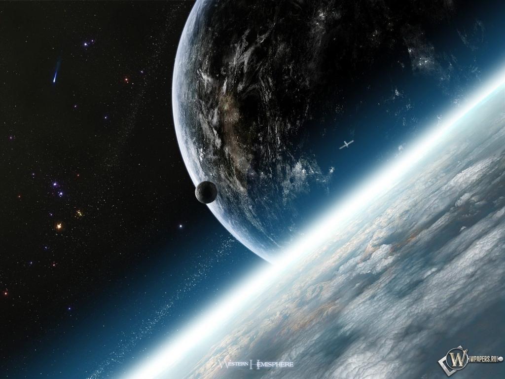 Космос луна земля наша галактика