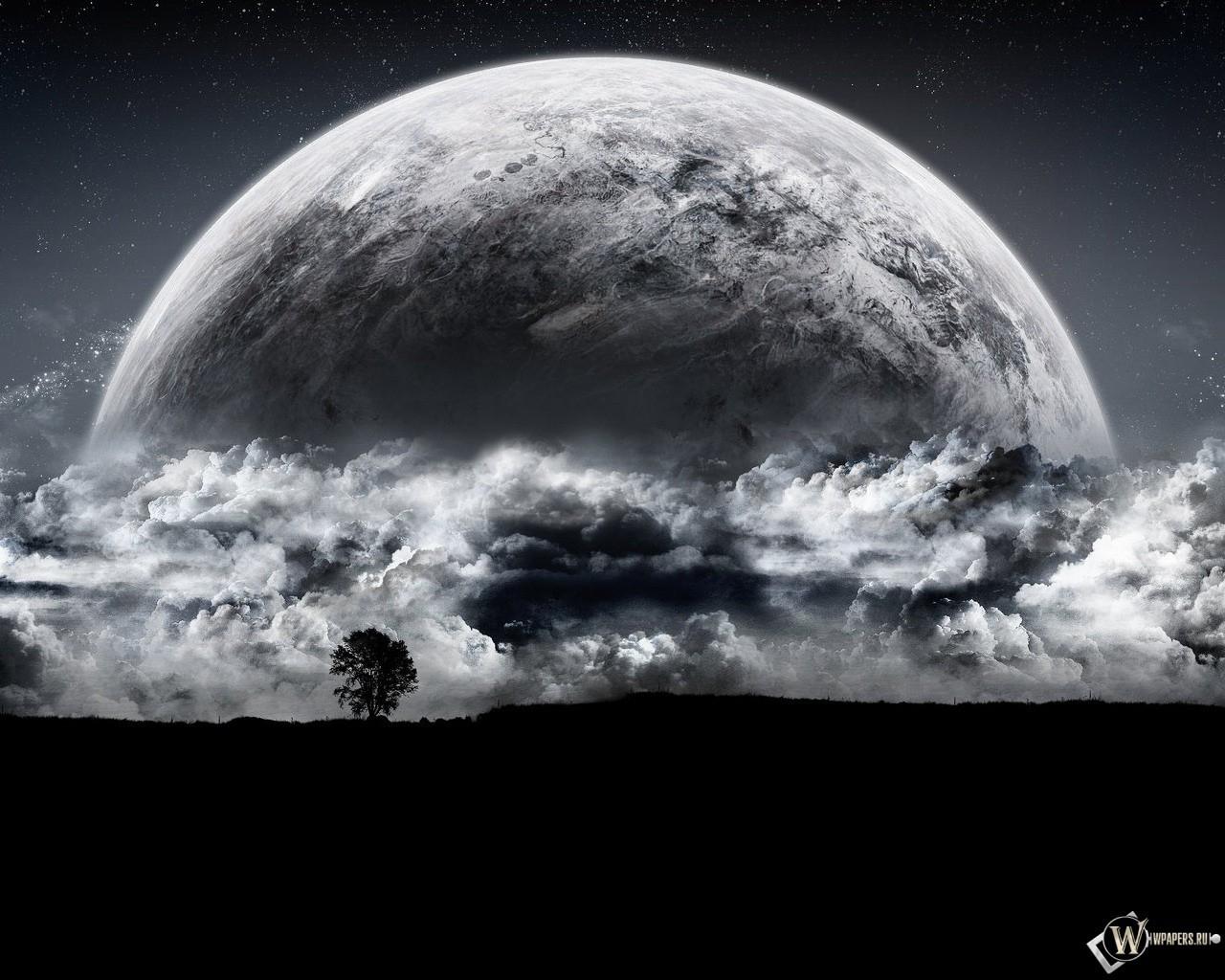 Луна фантастика 1280x1024 картинки