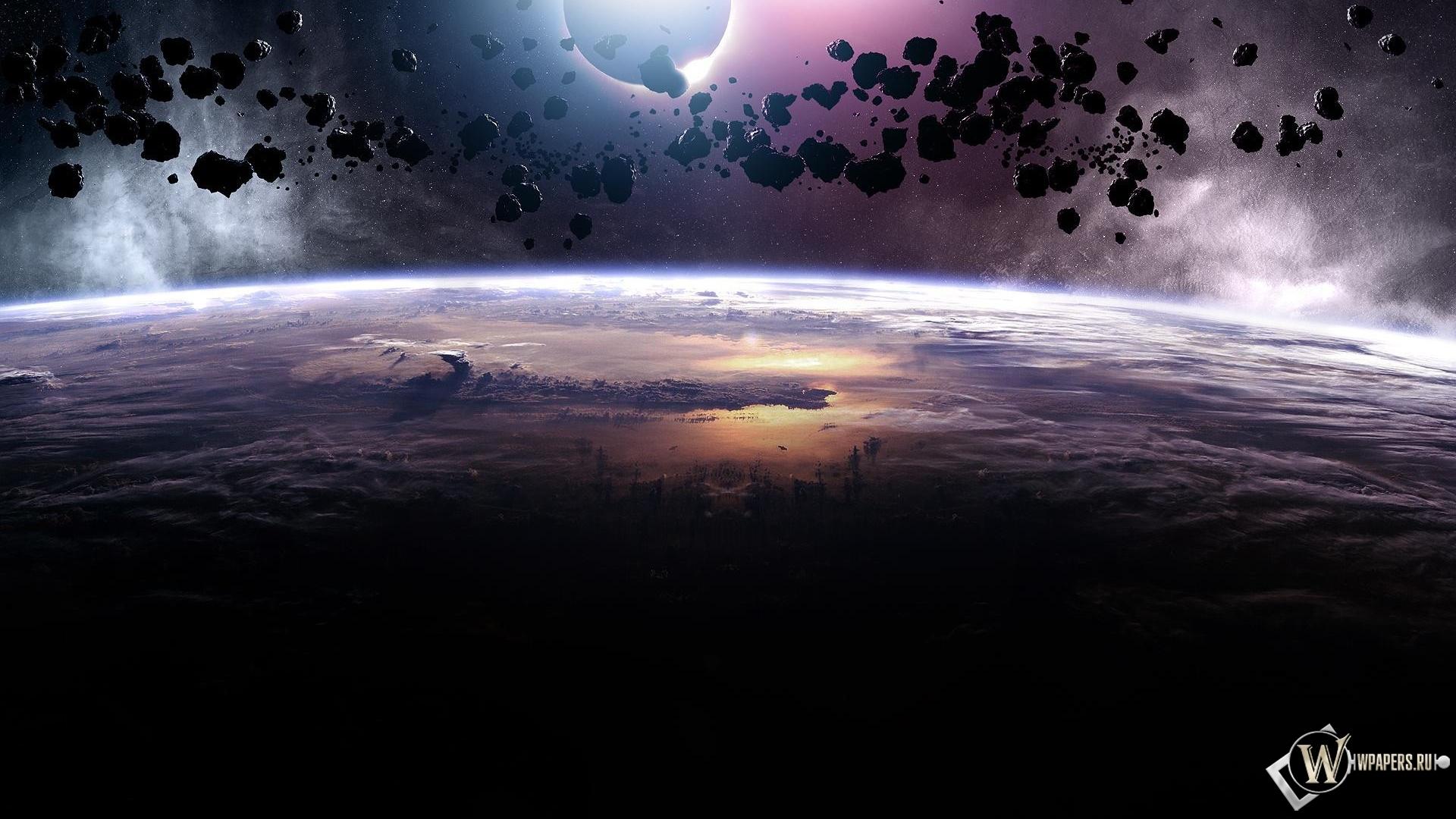 Планета обоев 116 астероиды обоев