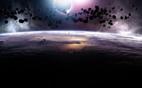 Обои Астероиды: Планета, Астероиды, Космос