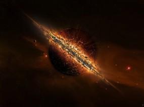 Обои Взрыв солнца: Солнце, Планета, Взрыв, Космос
