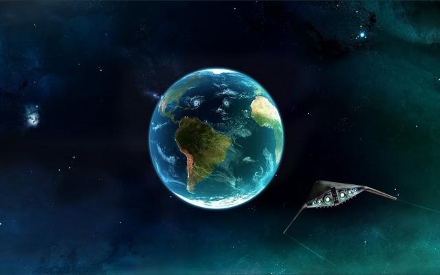 Корабль летит к земле