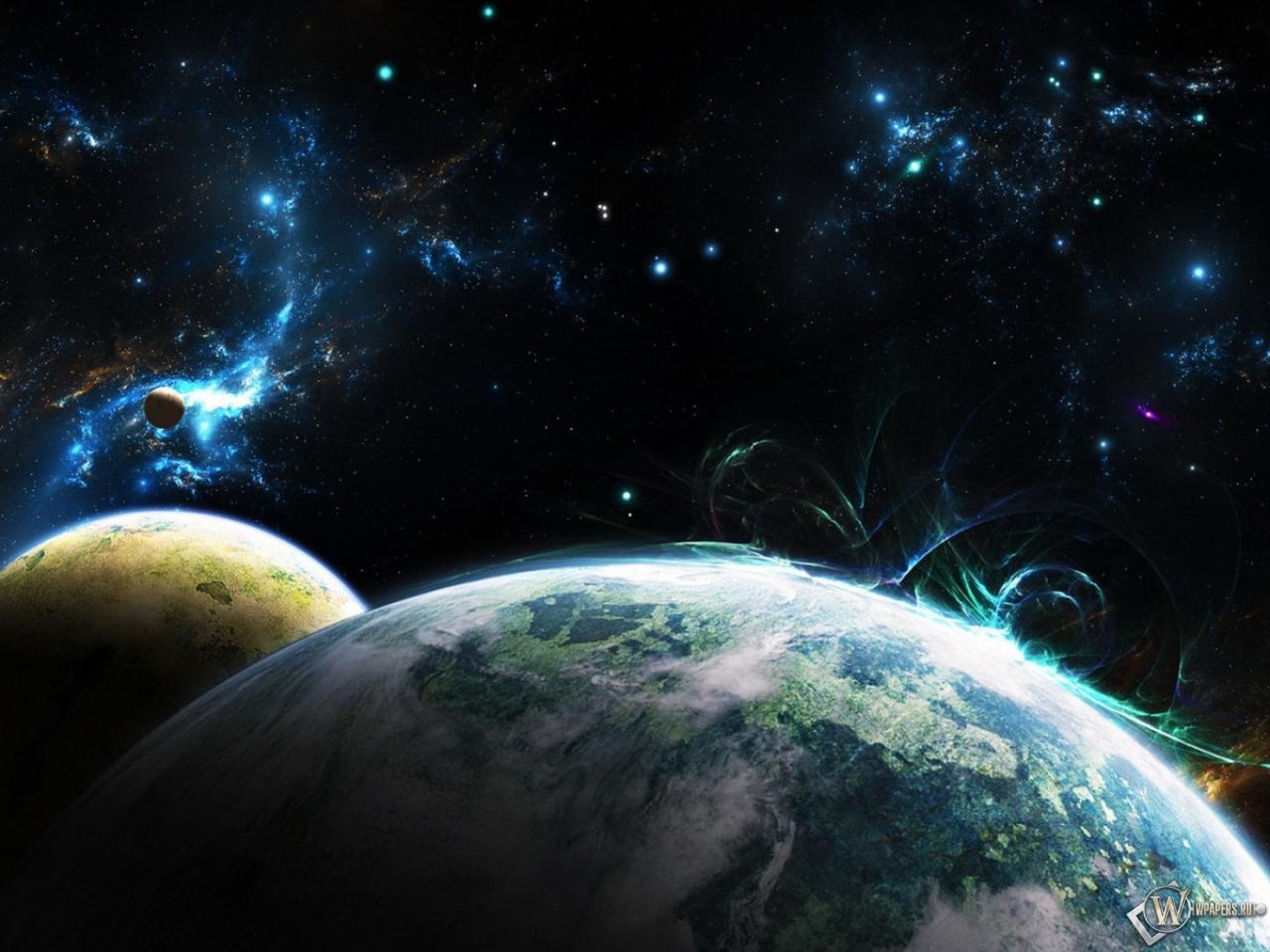Обои планеты космос планета спутник