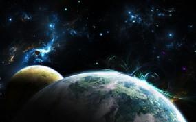 Обои Планеты: Космос, Планета, Спутник, Космос