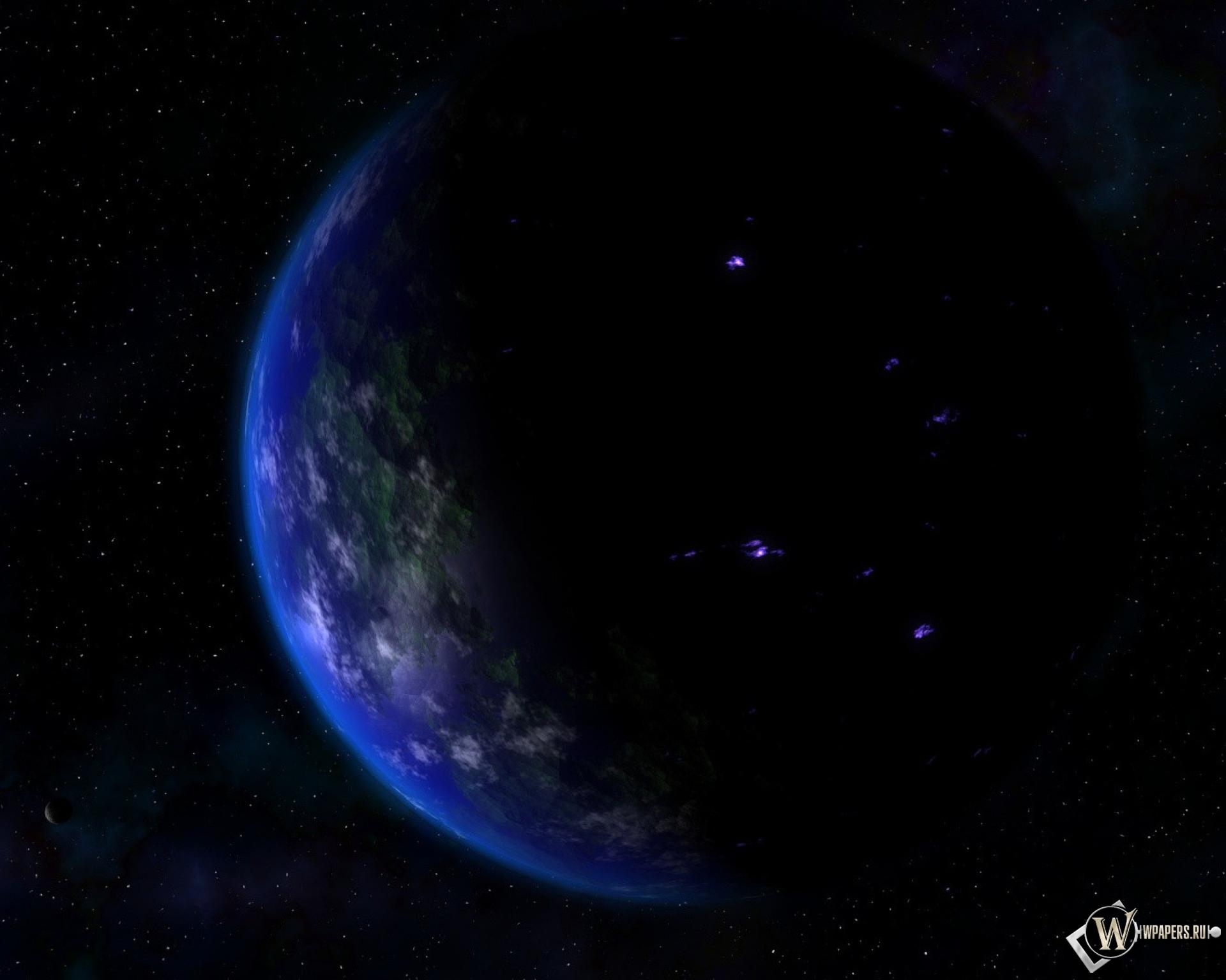 Обои земля ночью ночь земля планета