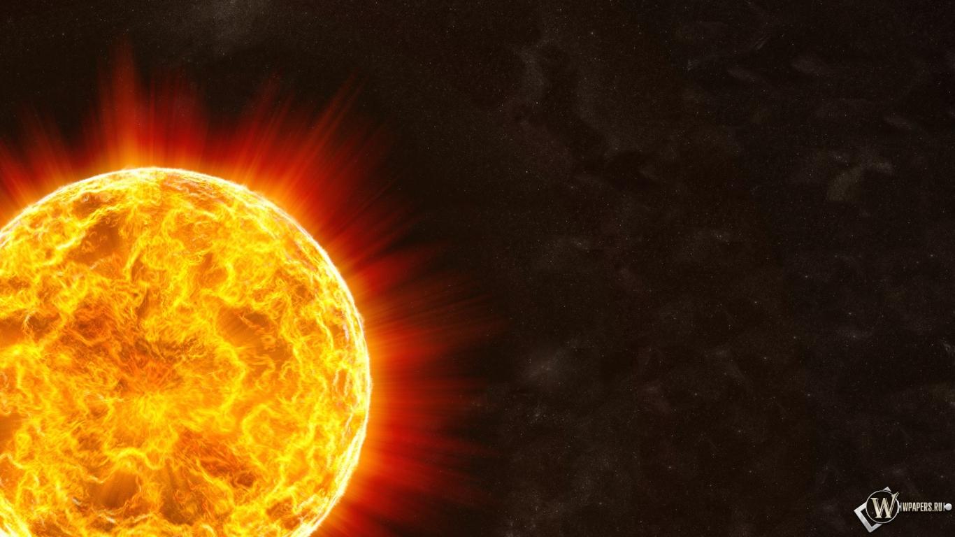 Обои солнце солнце космос 1366x768