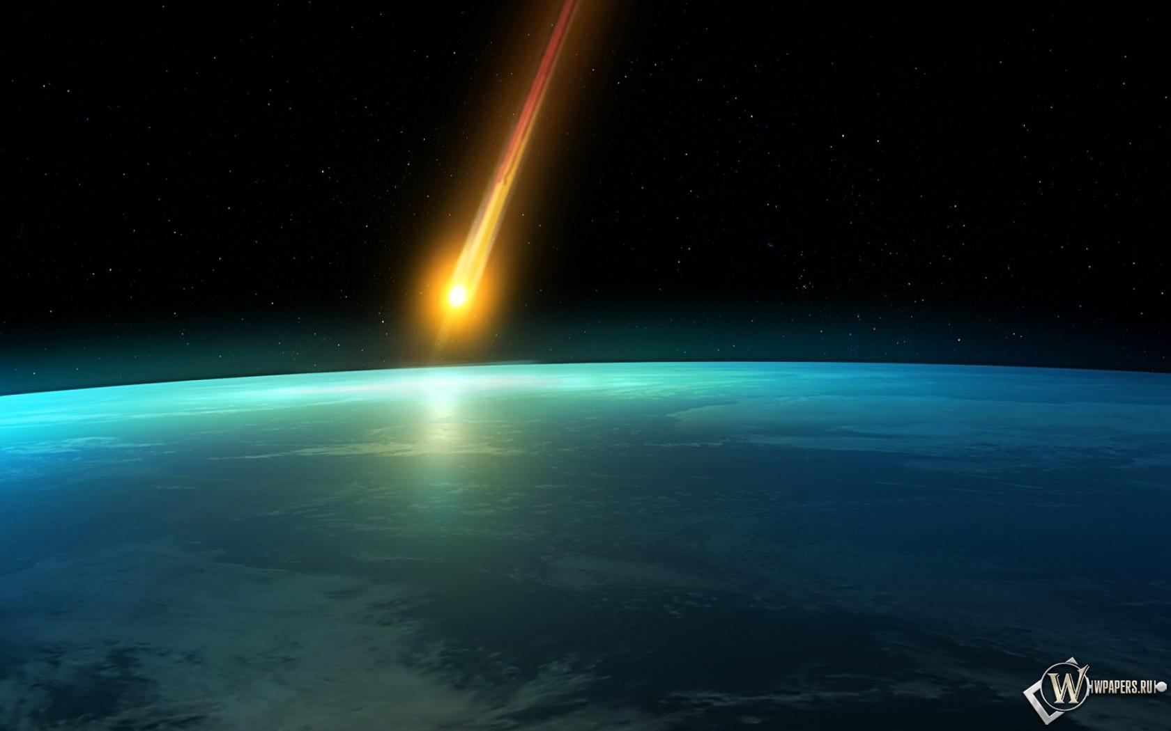 Падающий метеорит 1680x1050