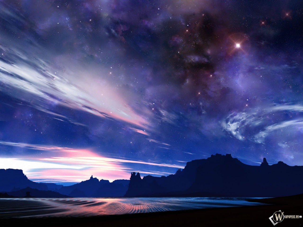 Звездное небо 1280x960