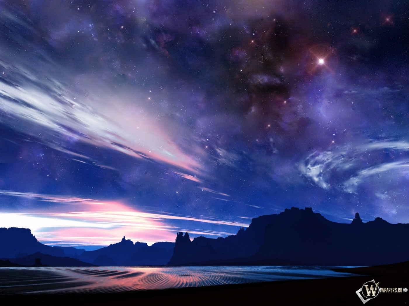 Звездное небо 1400x1050