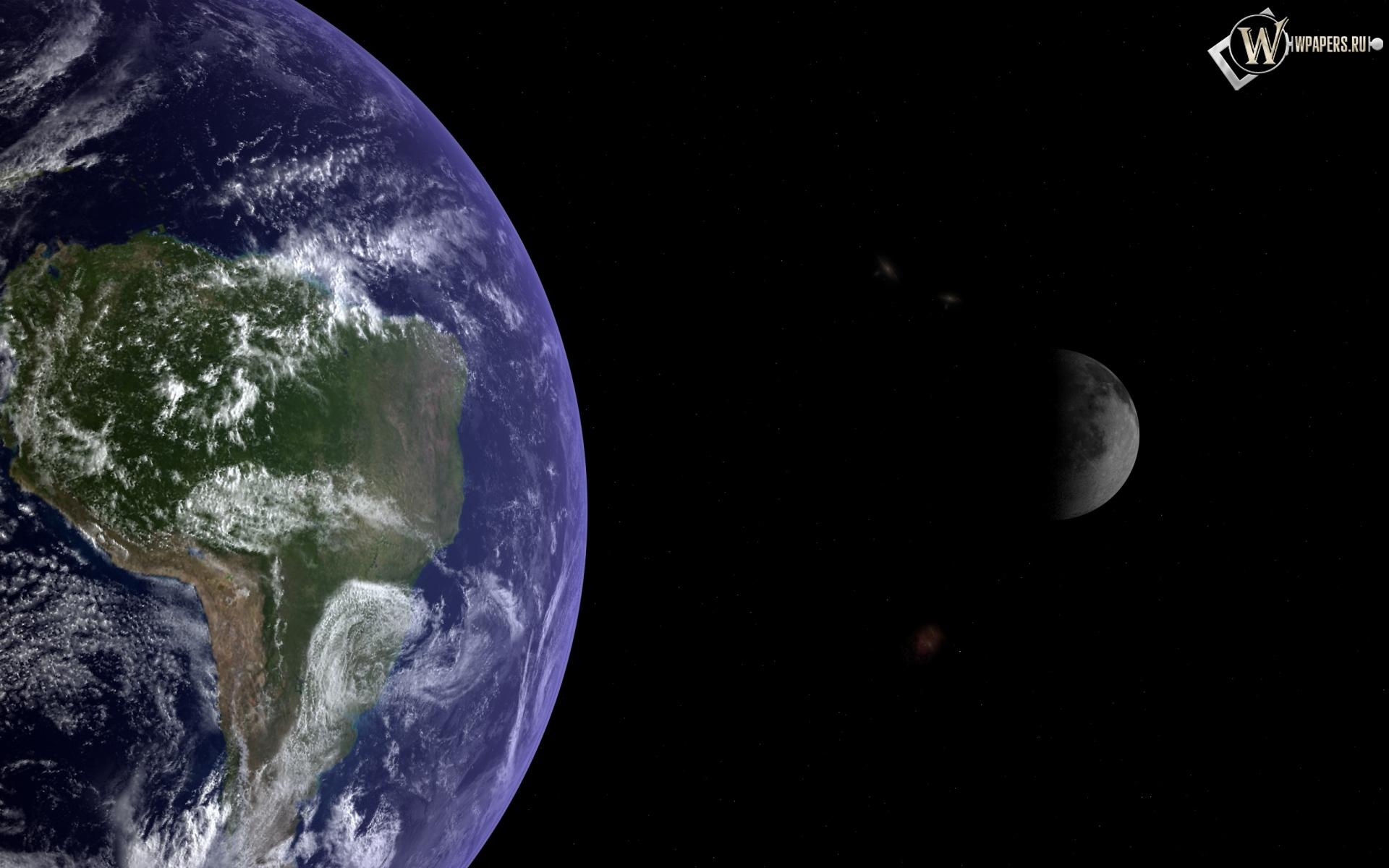 Обои земля и луна космос луна земля
