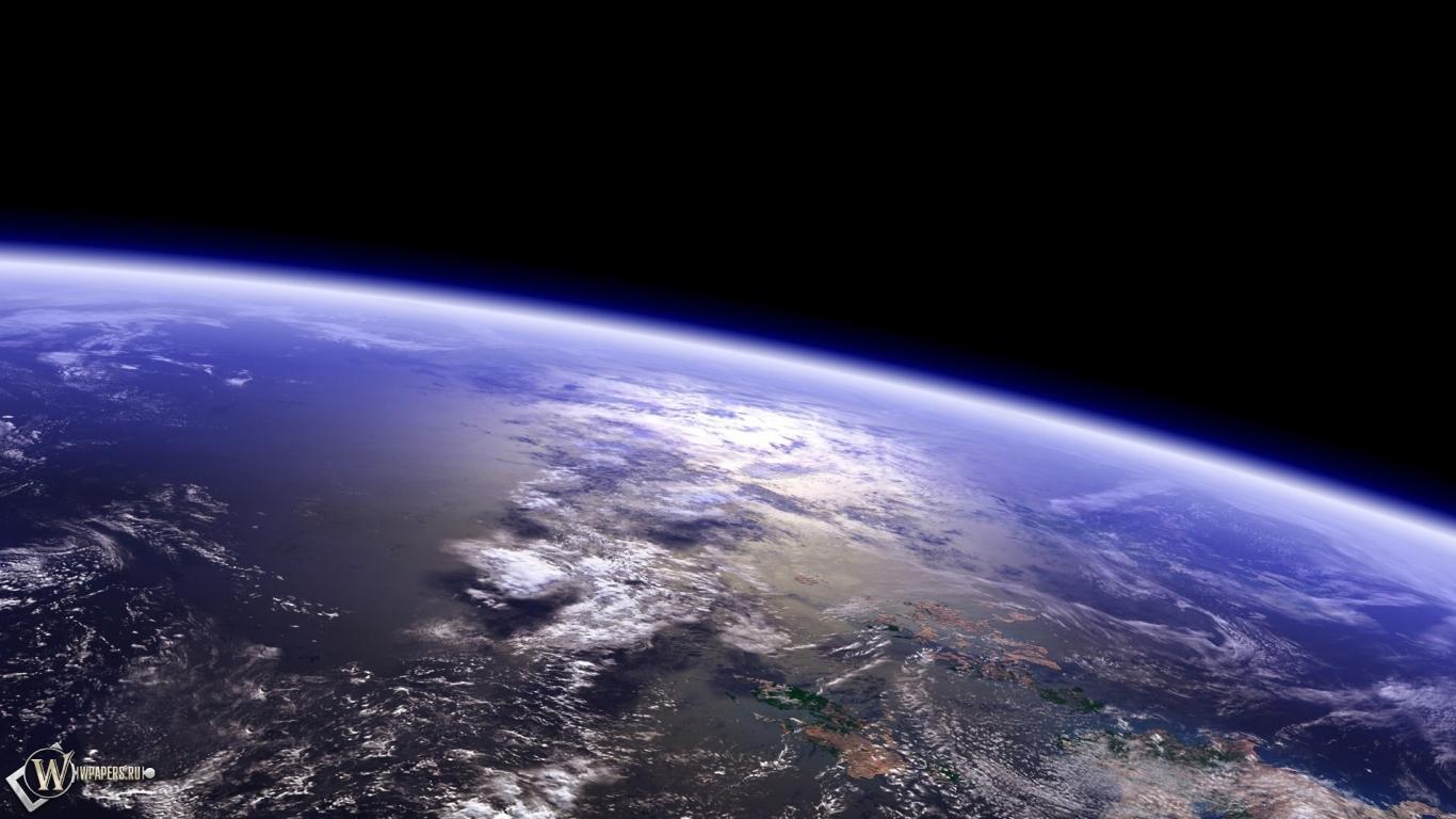 Обои над землей космос земля небо
