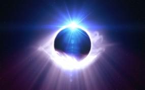 Обои Сведящаяся планета: Свет, Планета, Космос