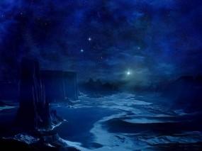 Обои Синяя планета: Космос, Синий, Космос