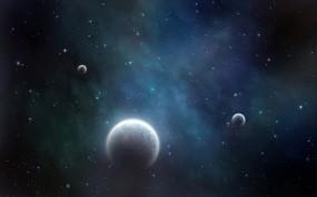 Обои Планеты: Сияние, Космос, Планеты, Звёзды, Космос