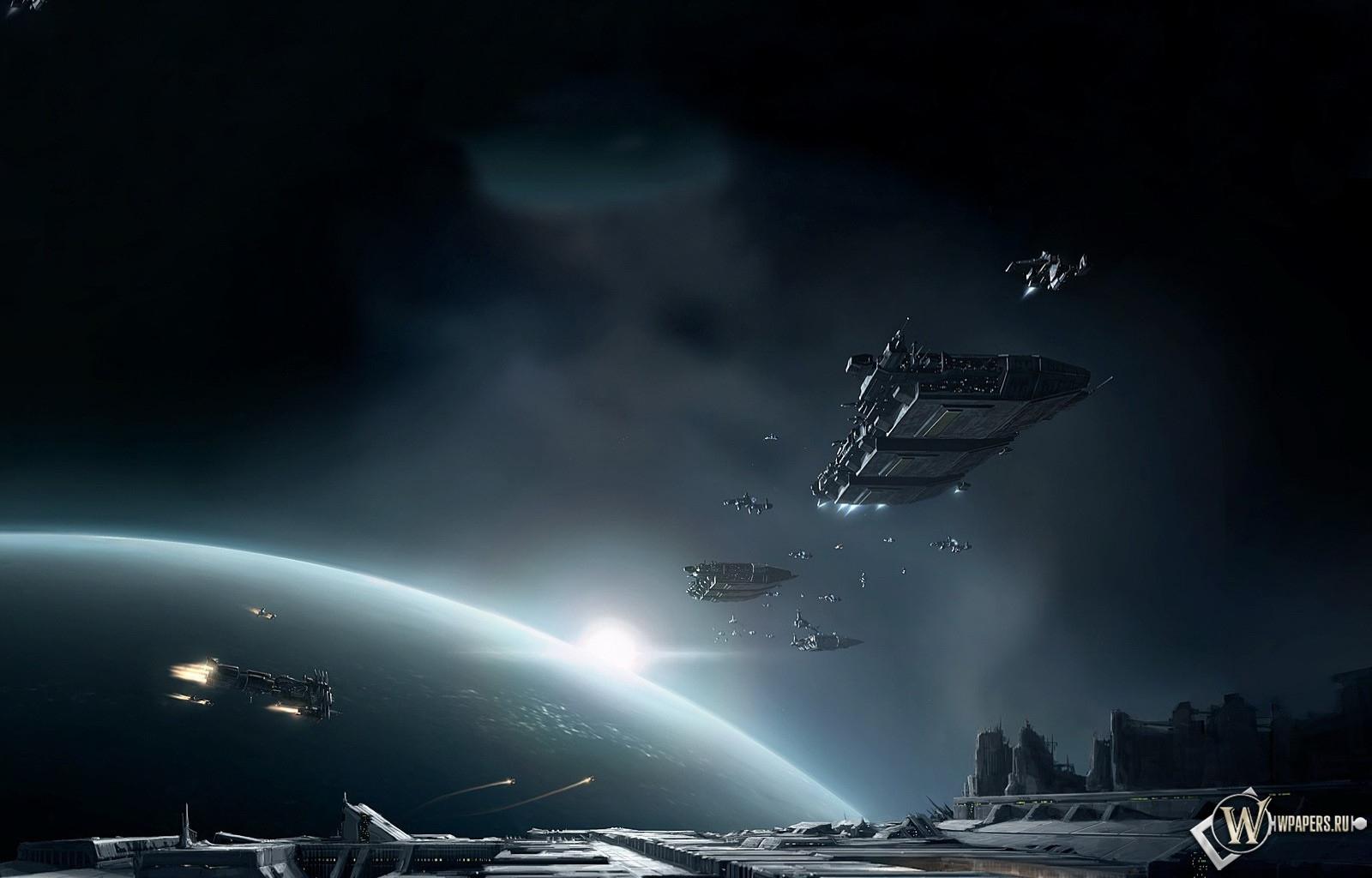 Обои космические корабли на рабочий