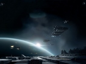 Обои Космические корабли: Солнце, Планета, Корабли, Космос